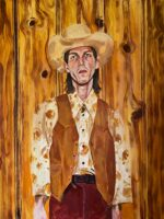 cosmic Cowboy painting by Ashley treece