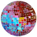 disco ball painting by Ashley treece