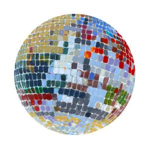 disco ball painting Ashley Treece