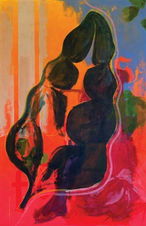 Fantas... gradient leaf print by Ashley Treece